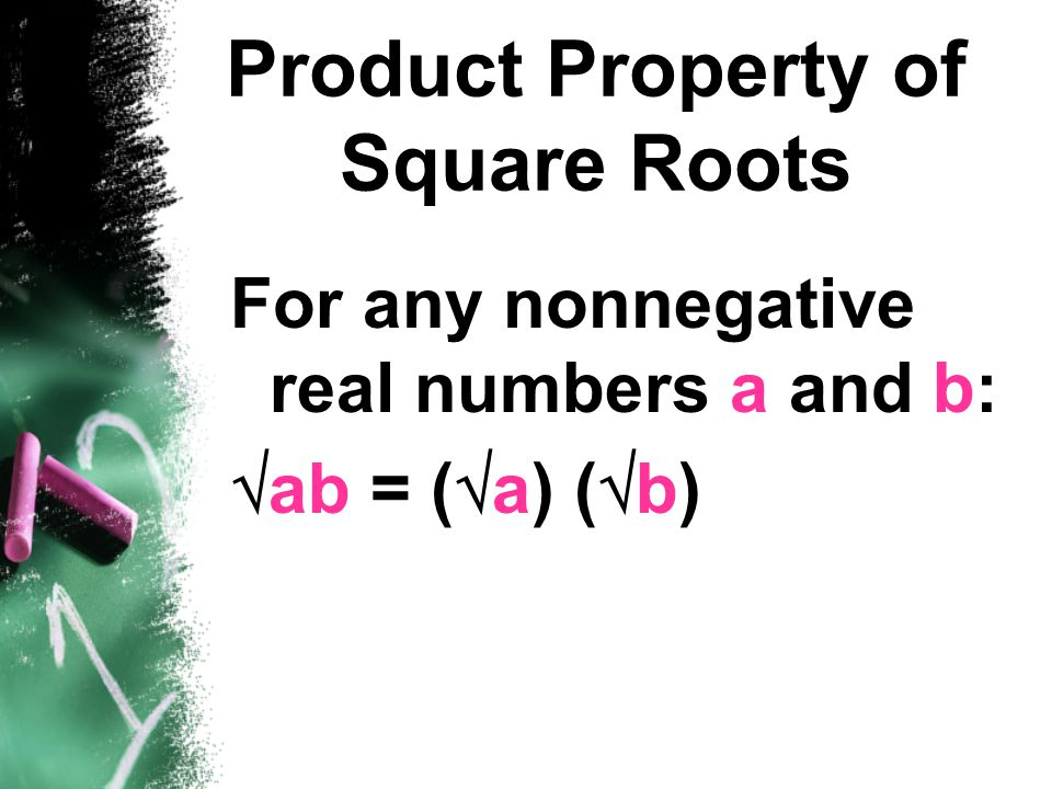 Product Property of Square Roots