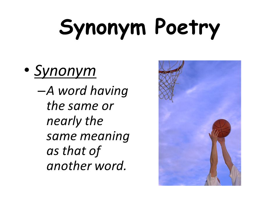 Synonym Poetry Synonym