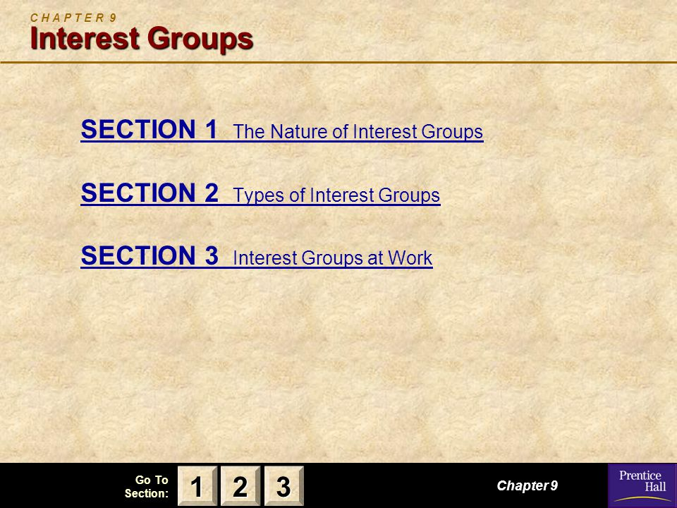 C H A P T E R 9 Interest Groups