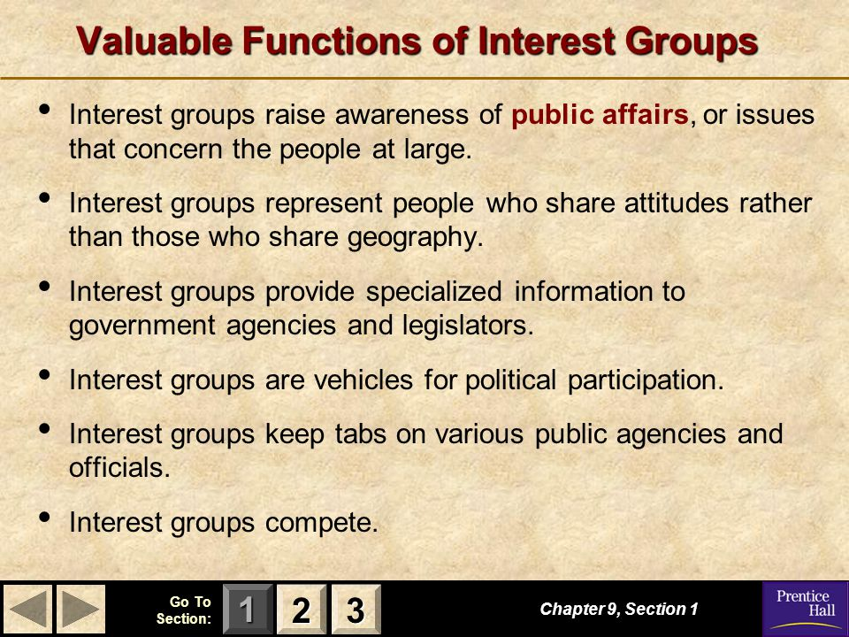 Valuable Functions of Interest Groups