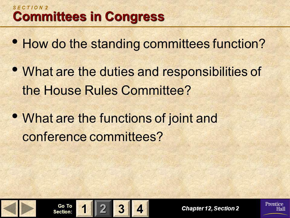 S E C T I O N 2 Committees in Congress