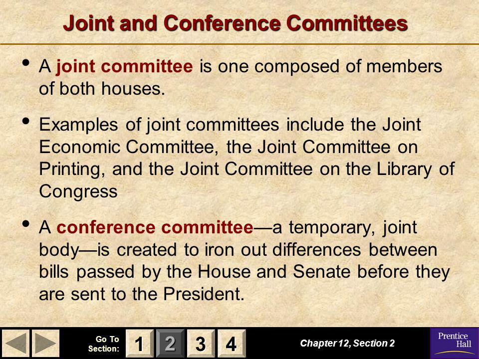 Joint and Conference Committees