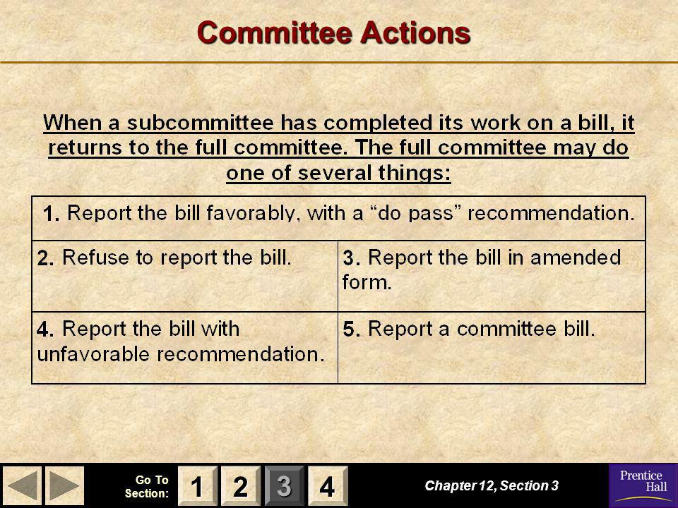 Committee Actions 1 2 4 Chapter 12, Section 3