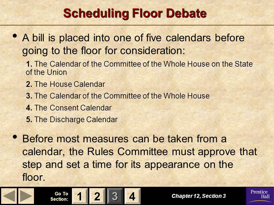 Scheduling Floor Debate