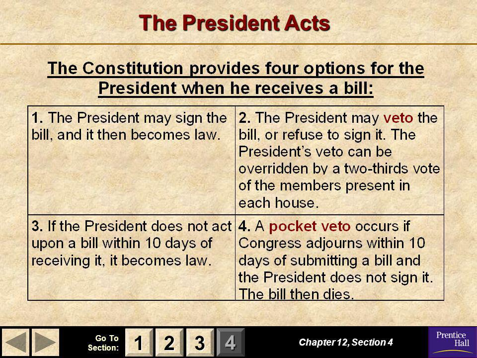 The President Acts 1 2 3 Chapter 12, Section 4