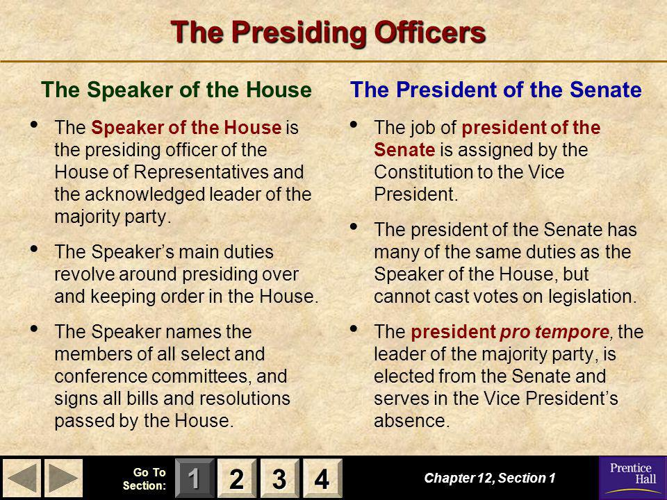The Presiding Officers