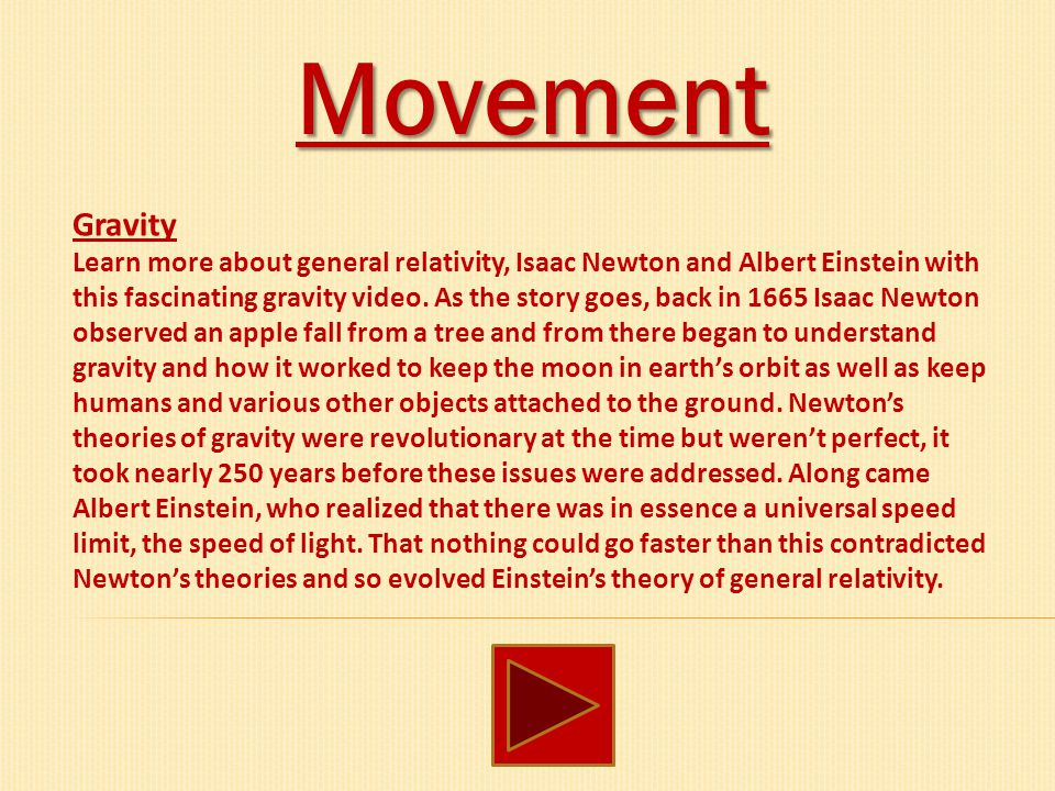 Movement Gravity.
