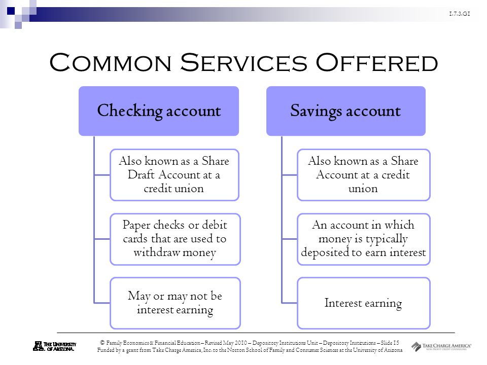 Common Services Offered
