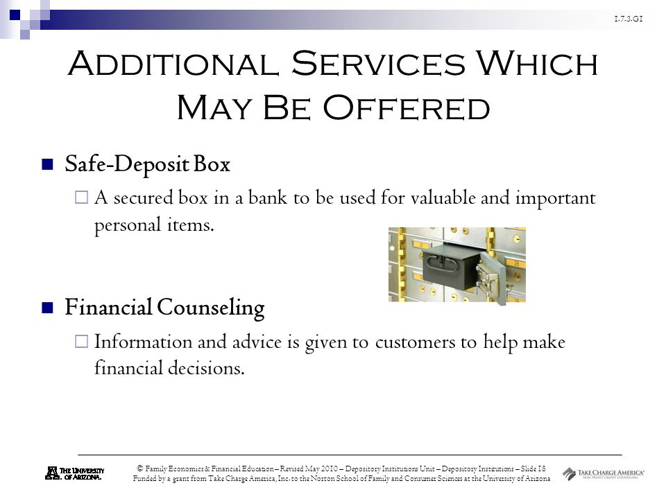 Additional Services Which May Be Offered