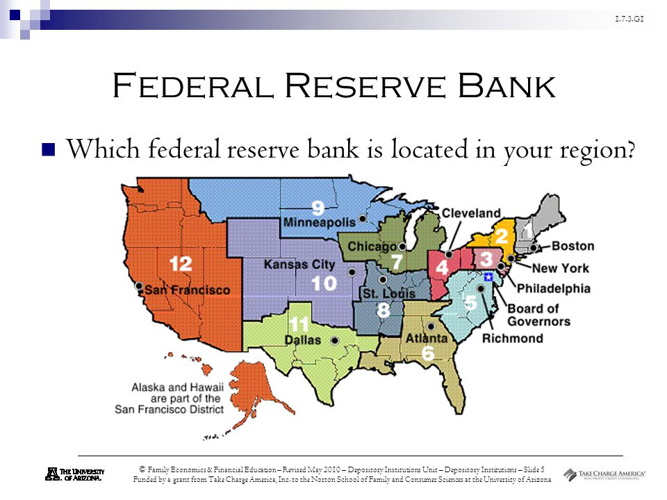 Federal Reserve Bank Which federal reserve bank is located in your region