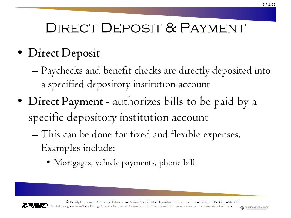 Direct Deposit & Payment