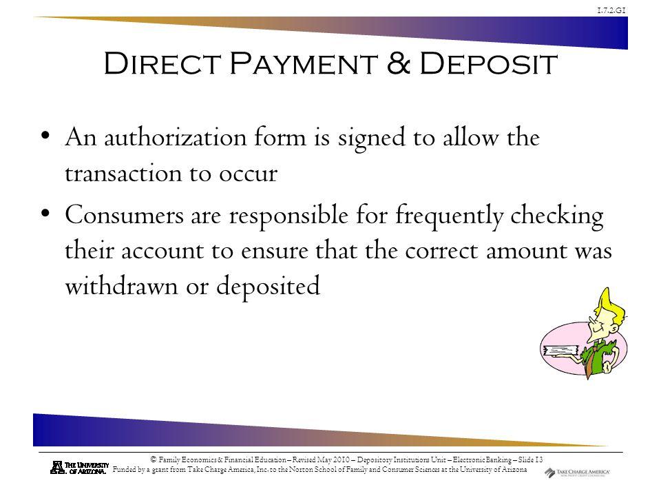 Direct Payment & Deposit