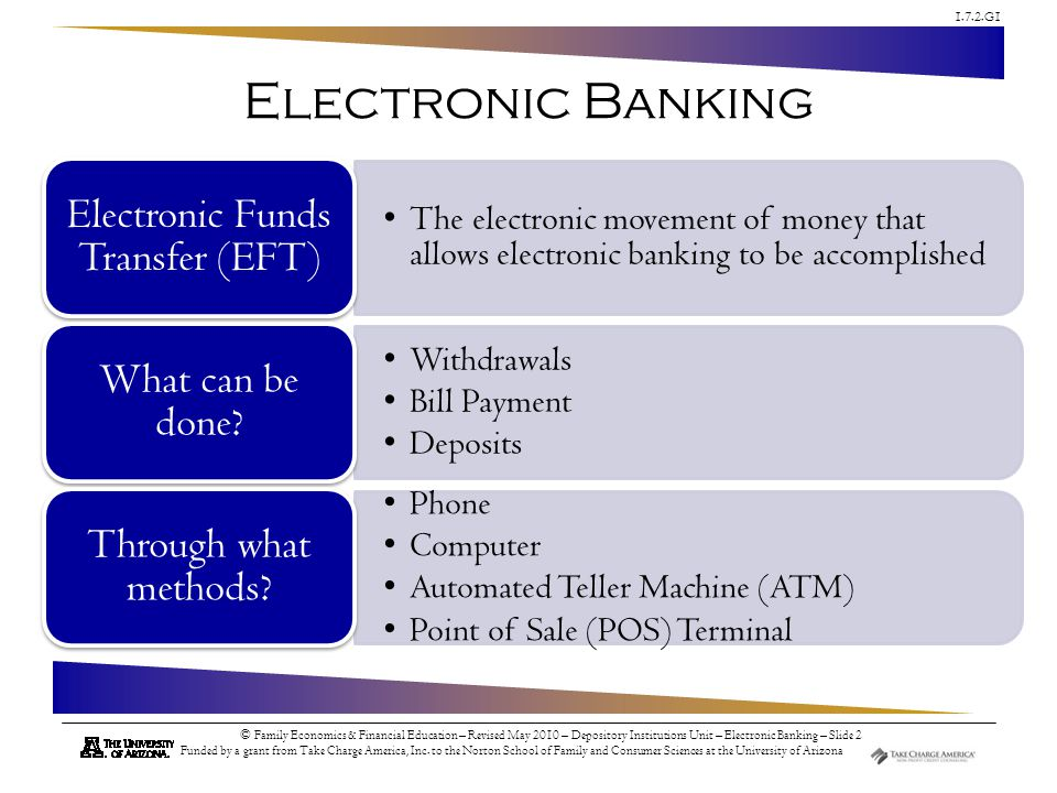 Electronic Funds Transfer (EFT)