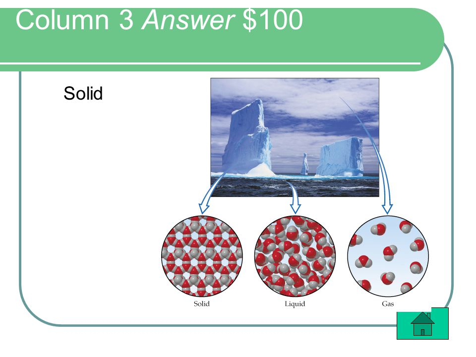 Column 3 Answer $100 Solid