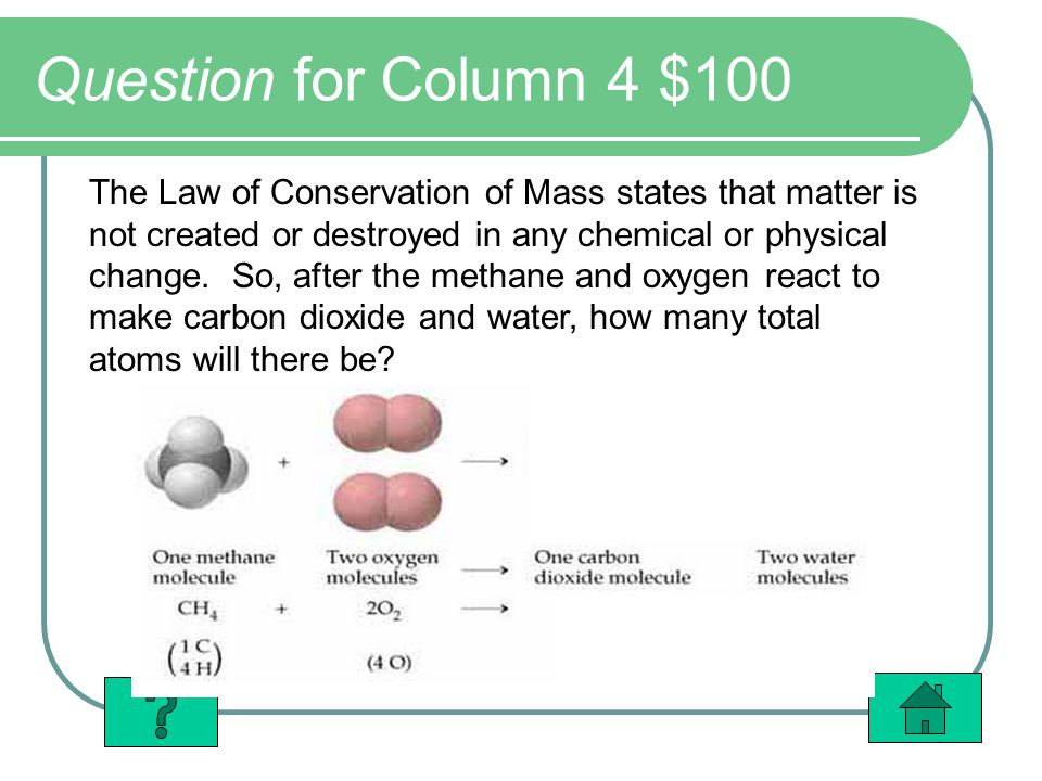 Question for Column 4 $100