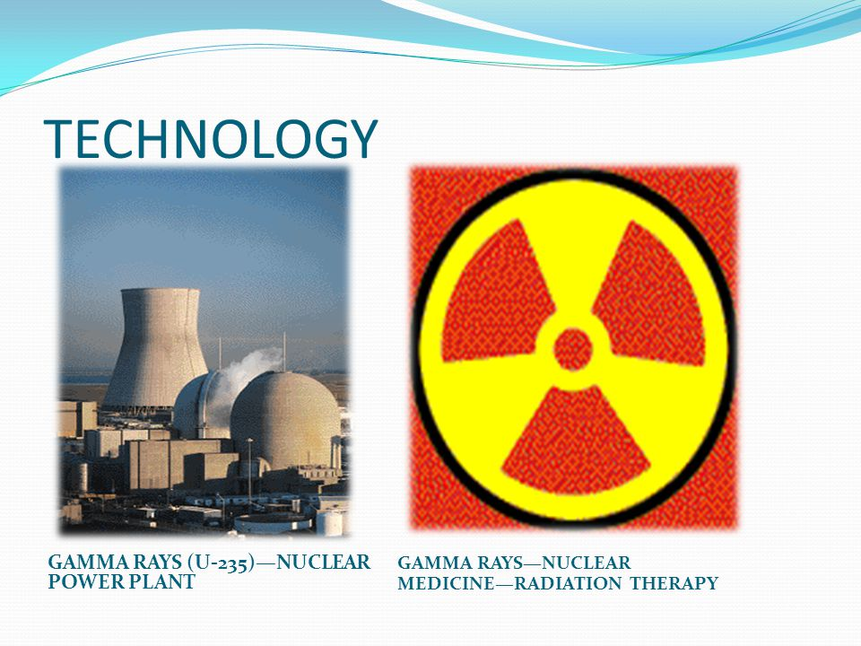 TECHNOLOGY GAMMA RAYS (U-235)—NUCLEAR POWER PLANT