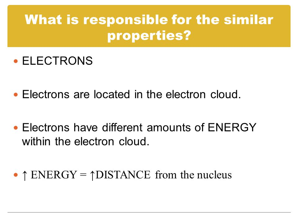 What is responsible for the similar properties
