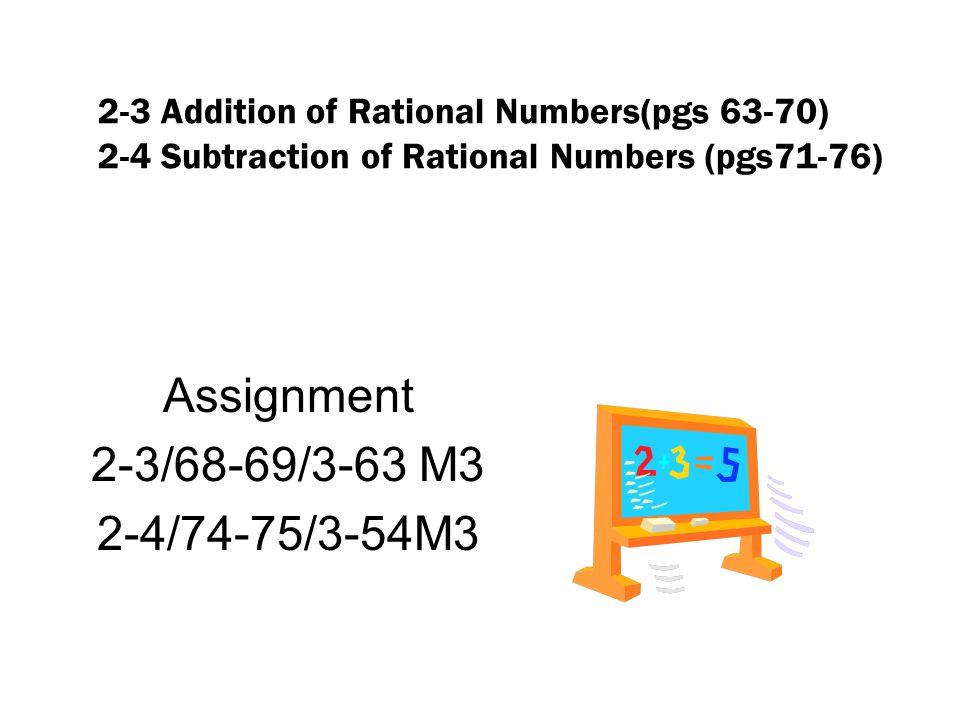 Assignment 2-3/68-69/3-63 M3 2-4/74-75/3-54M3