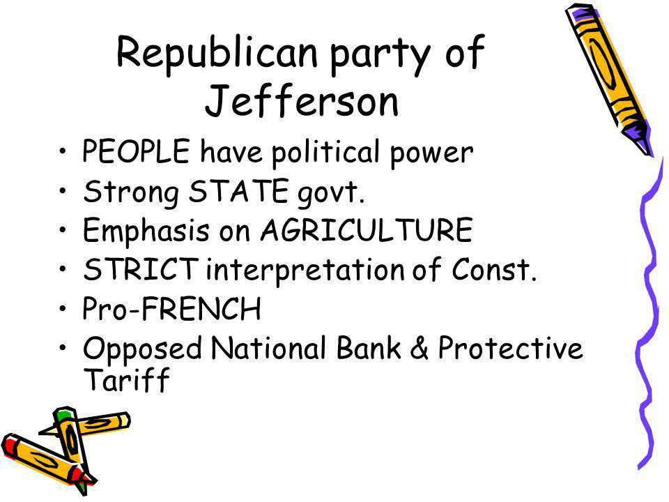 Republican party of Jefferson