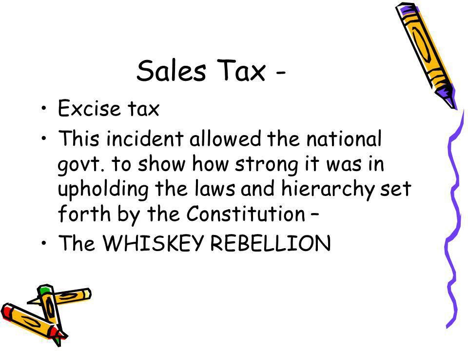Sales Tax - Excise tax.
