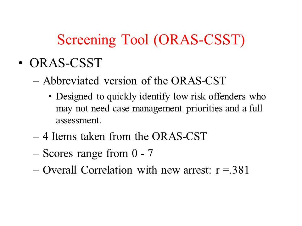 Screening Tool (ORAS-CSST)