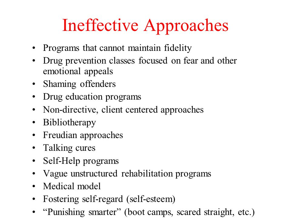 Ineffective Approaches