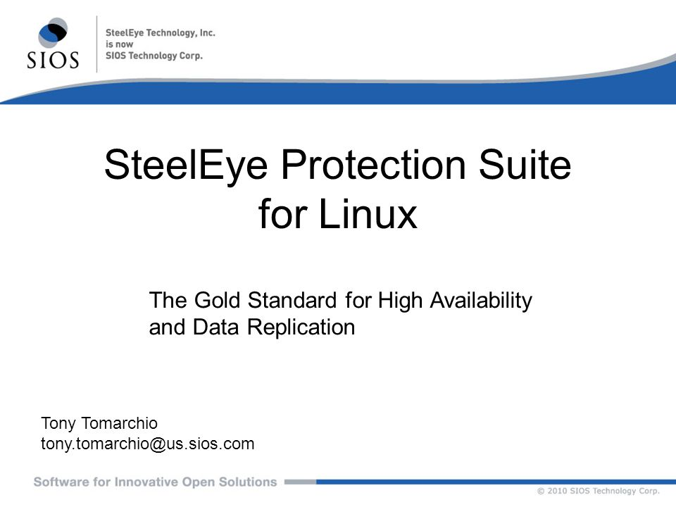 SteelEye Protection Suite for Linux