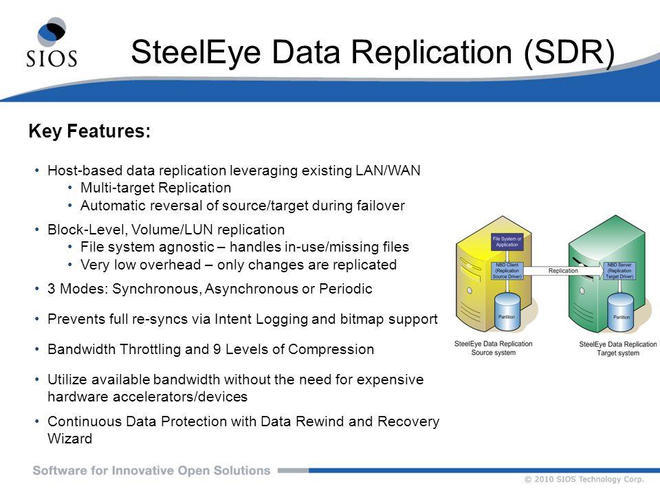 SteelEye Data Replication (SDR)