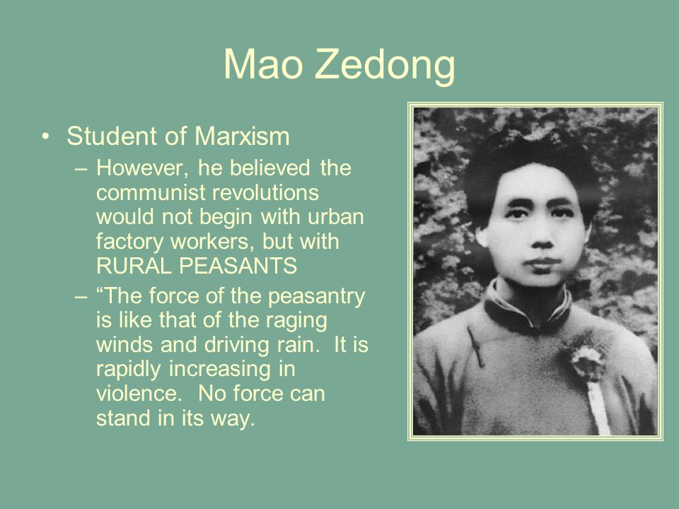 Mao Zedong Student of Marxism