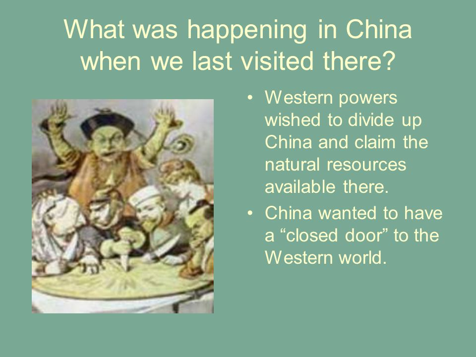 What was happening in China when we last visited there