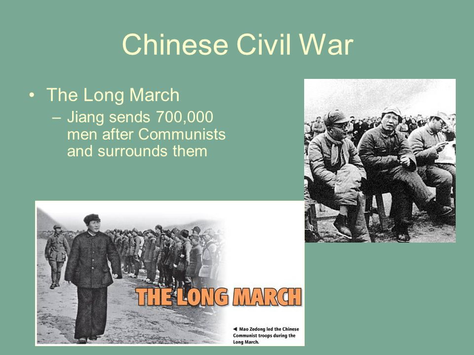 Chinese Civil War The Long March