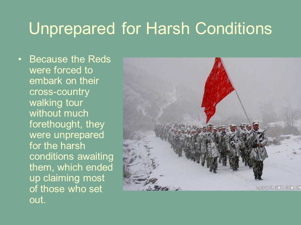 Unprepared for Harsh Conditions