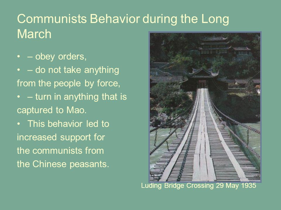 Communists Behavior during the Long March