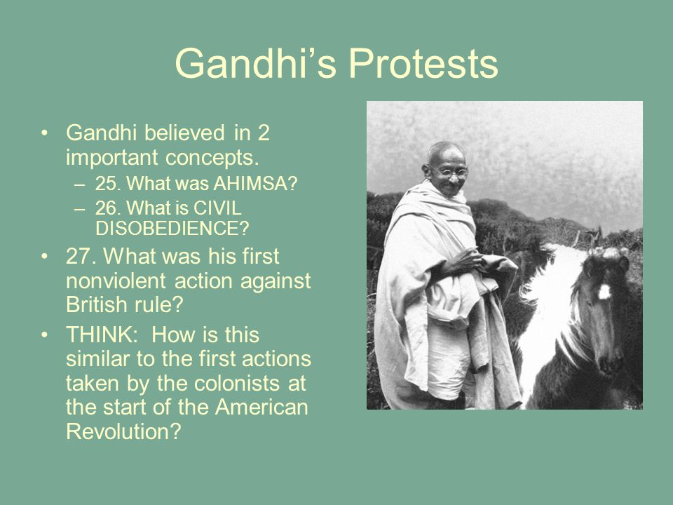 Gandhi leads civil disobedience