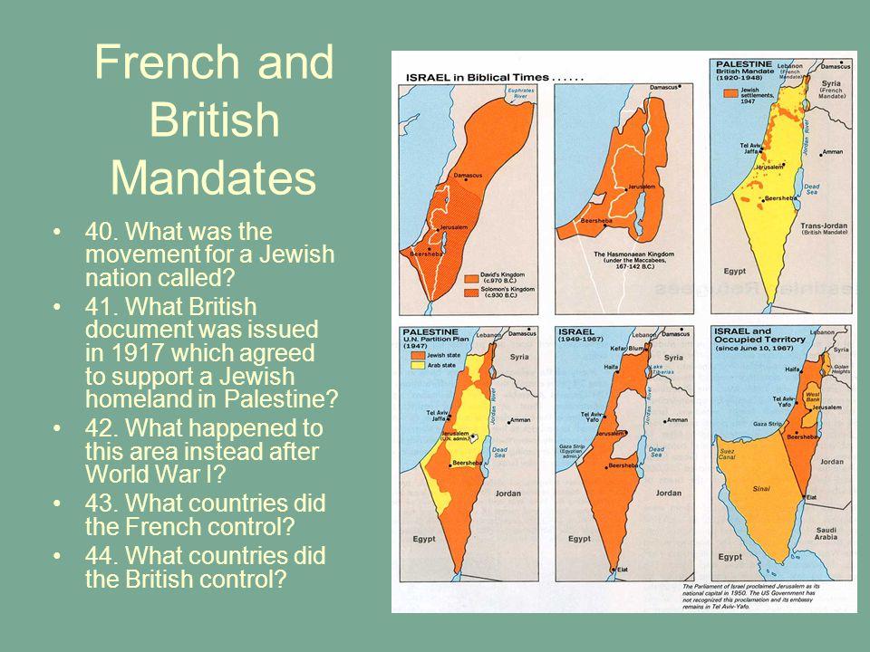 French and British Mandates