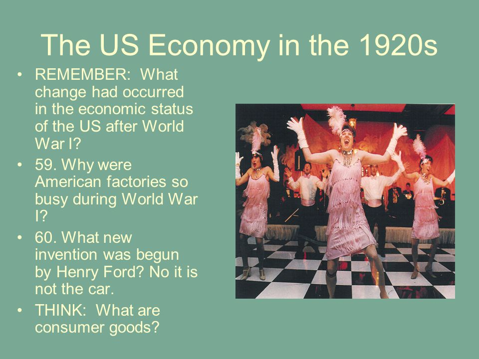 an analysis of the changes in america after world wars A tide of economic and social change swept across the country in the 1920s  of  expatriate americans in france and spain after world war i on the stage,.