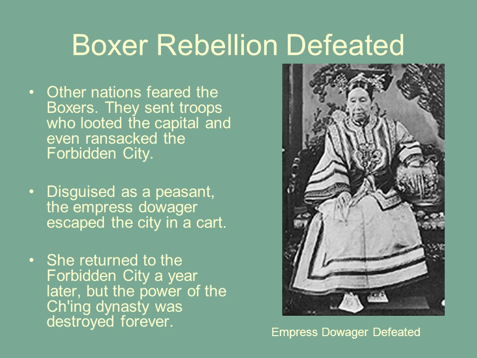 Boxer Rebellion Defeated