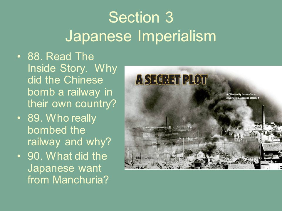Section 3 Japanese Imperialism