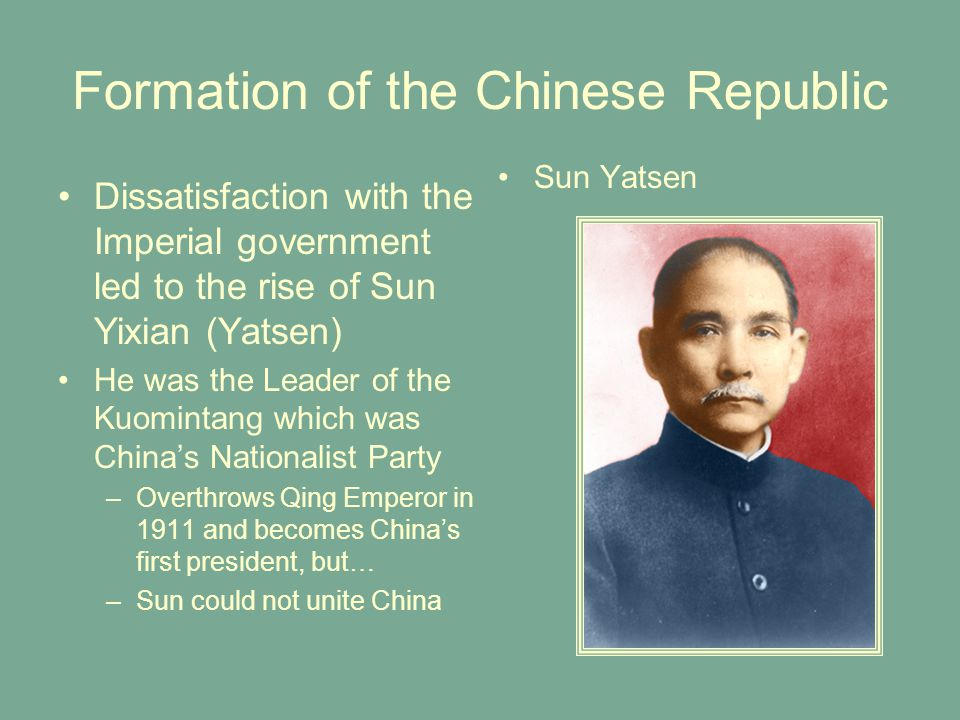 Formation of the Chinese Republic