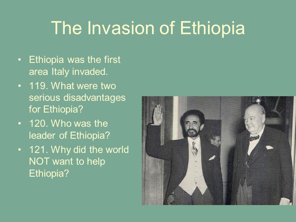 The Invasion of Ethiopia