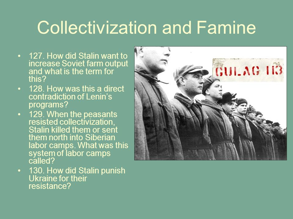 Collectivization and Famine