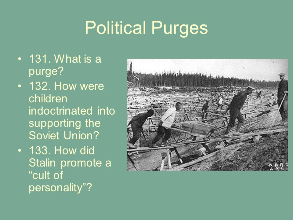 Political Purges 131. What is a purge