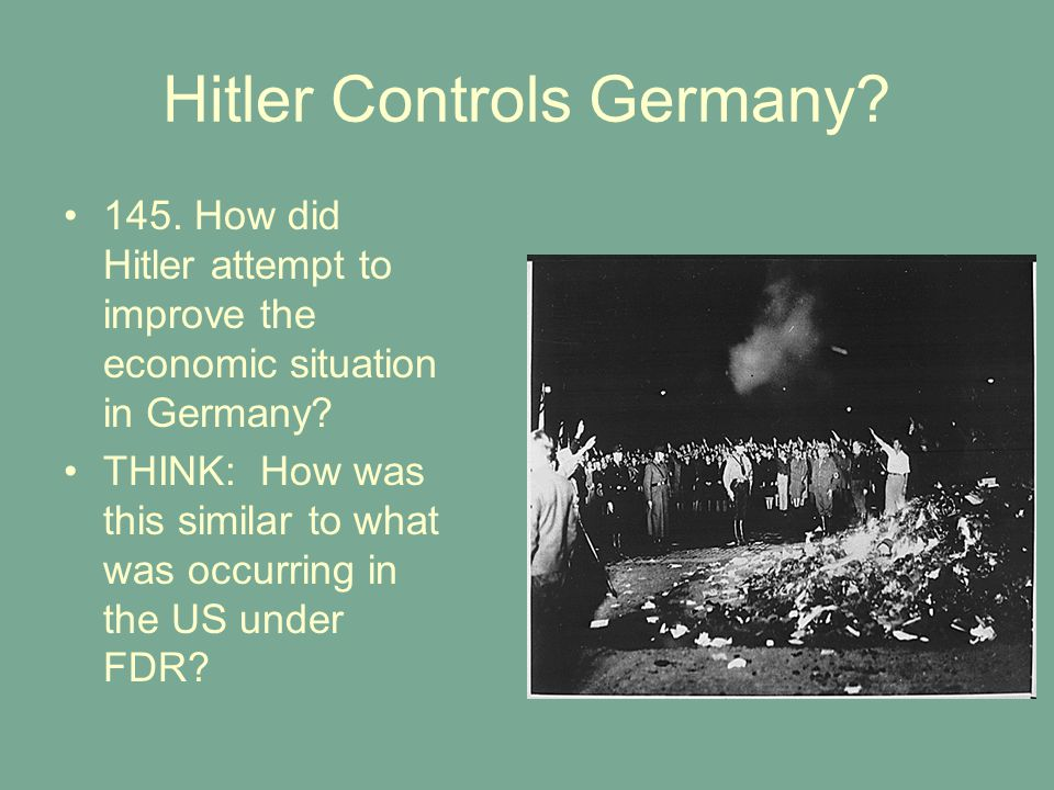 Hitler Controls Germany