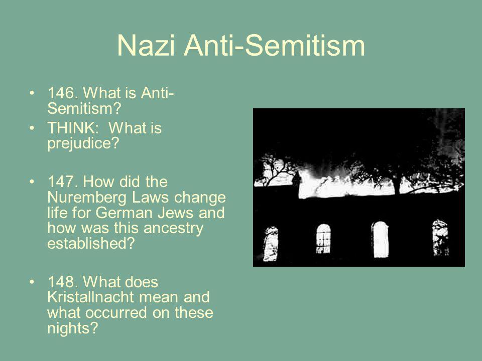 Nazi Anti-Semitism 146. What is Anti-Semitism