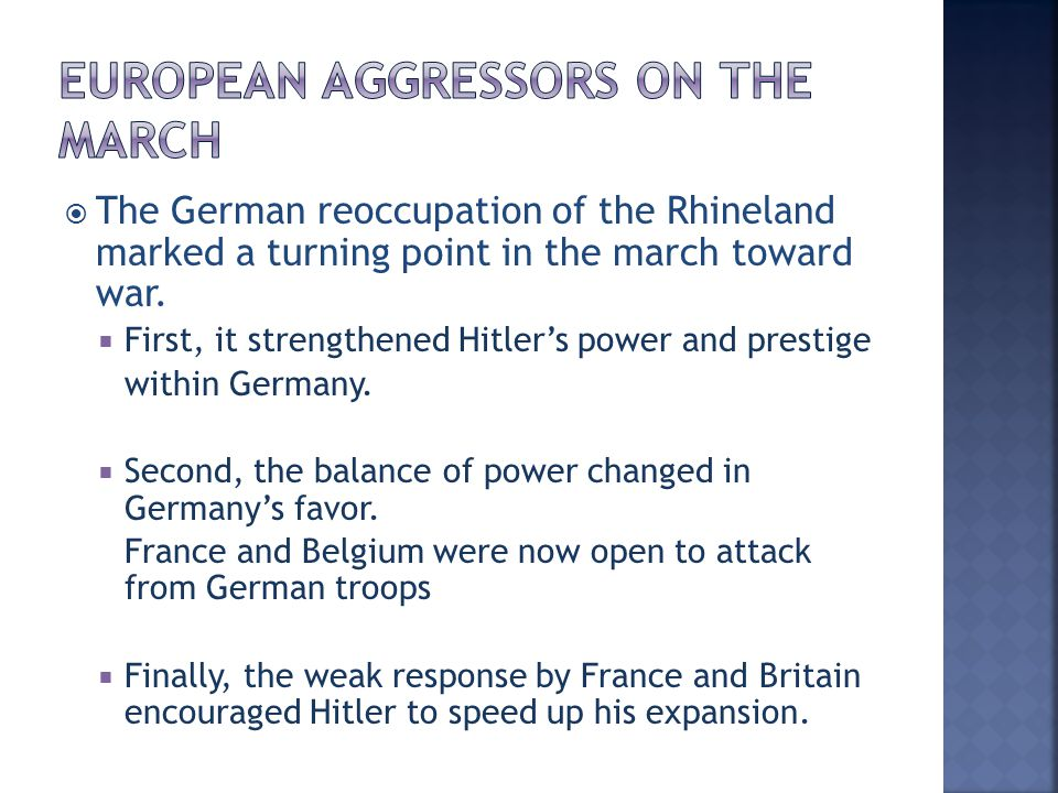 European Aggressors on the March