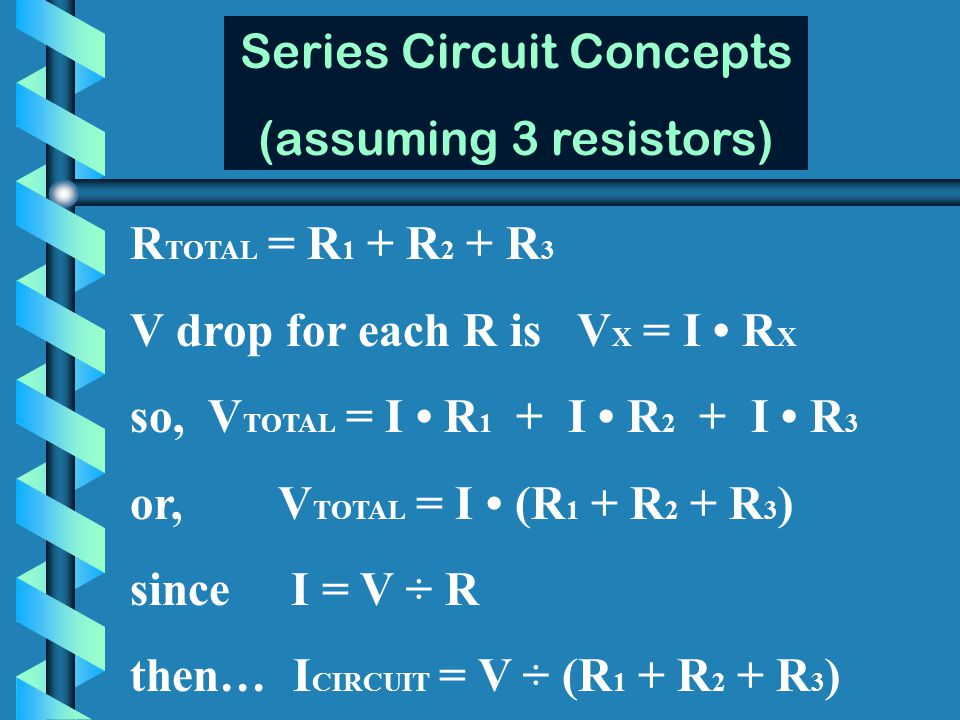 Series Circuit Concepts