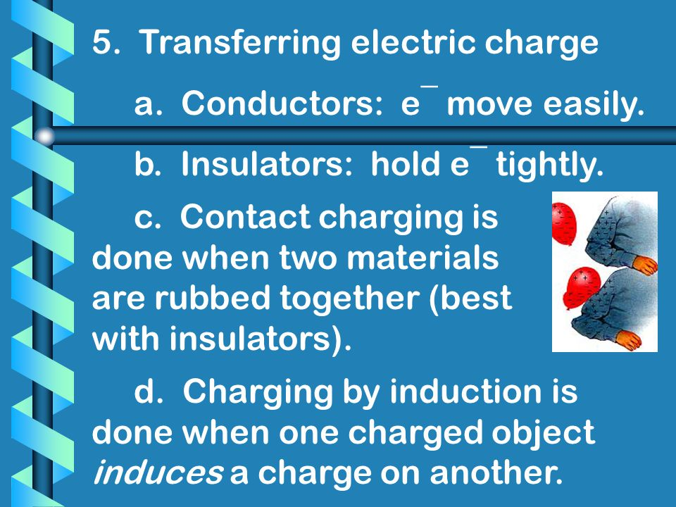5. Transferring electric charge