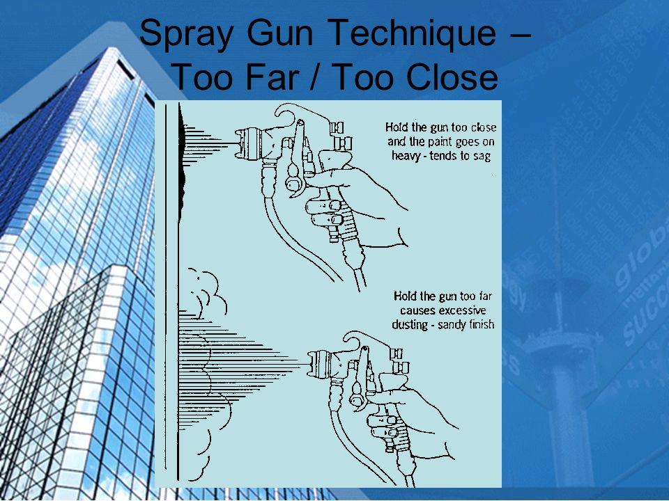 Spray Gun Technique – Too Far / Too Close