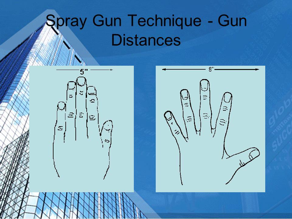 Spray Gun Technique - Gun Distances