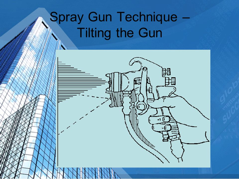 Spray Gun Technique – Tilting the Gun